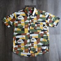 2001 Japan Exclusive Bape Quilt Camo Button Shirt