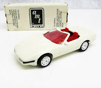 ERTL 1992 America 3 CORVETTE CONVERTIBLE Promo Model Artic White Red Interior
