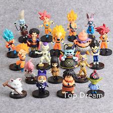 20pcs/jeu Dragon Ball Z Goku Action Figures jouets pour Crazy Party livraison gratuite