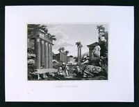 1847 Malte-Brun Engraved Print - Ruins of Athens - Greece Architecture Europe
