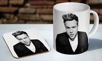 Olly Murs BW Tea / Coffee Mug Coaster Gift Set