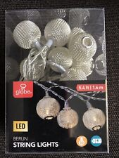 Globe String Light LED 5.4 Ft, 10 Lights, Battery Operated.