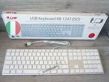 LMP Alu Mac USB Tastatur m. Ziffernblock Apple Keyboard IT Italy (QWERTY) Silber