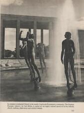 Orpheus Fountain Carl Milles Sculptures Detroit1940 Era Book Vintage PHOTO Rare