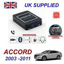 Para HONDA ACCORD streaming de música cargador de teléfono Bluetooth módulo SD AUX CD 24