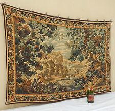 """Large Vintage Français la verdure Wall hanging/Tapisserie (63"""" X 45"""")"""