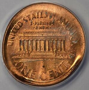 ANACS MS63RD Broadstruck Thru Late Stage Die Cap Lincoln Cent Mint Error Unique