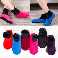 Women/Men's Elastic Non-slip Home Fleece Bed Slipper Floor Ankle Socks