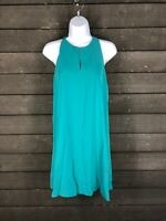 Loft 4032 Green Vneck Aline Dress Womens SP
