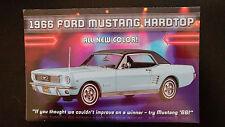 Danbury Mint brochure - 1966 Ford Mustang Hardtop Lt Blu - Free Shipping in U.S.