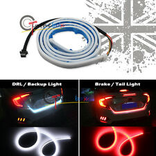 Universal White & Red LED Strip For Car Backup DRL Tailgate Running Brake Light