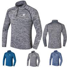 Men Compression Shirt 1/4 Zip Mock Neck Top Athletic Sports Long Sleeve Slim fit