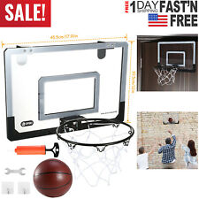 Mini Basketball Hoop System Goal Over The Door Indoor Sports with Ball for Kids