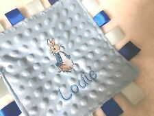 PERSONALISED BABY BLANKET BEATRIX POTTER COMFORTER TAGGY PETER RABBIT PUDDLEDUCK