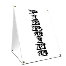 A-frame Sidewalk Sign Piercing Vertical With Graphics On Each Side
