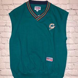 Vintage Miami Dolphins Pro Line Starter Sweatervest Men's L