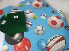 Football/Ruby/Sports Birthday Gift Wrap......2 Sheet & 2 Tag....65cm x 48cm