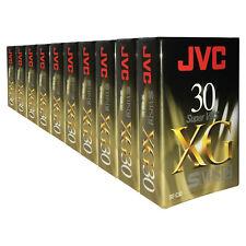 10 X 30 Min JVC XG Super VHS-C SVHS-C Videocámara Compacta Cinta de vídeo Cassette