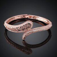 Swarovski Clear Crystal Get Bangle Bracelet Jewelry Rose Gold Medium New In Box