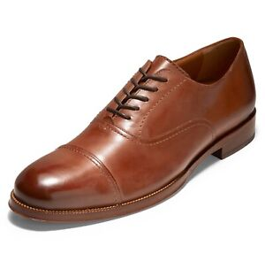 Cole Haan Gramercy Cap Toe Oxford - British Tan Leather, Size 7.5 D [C31543]