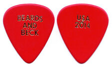 JEFF BECK Guitar Pick : Bryant Beards and Beck - USA 2014 Tour ZZ Top red gold