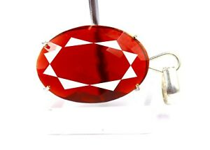 71.70Ct Certified Brazilian Superb Red Topaz Pendant 925 Solid Sterling Silver