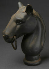 Antique Cast Iron Horse Head Hitching Post Fence Topper Old Rare Heavy
