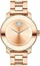Brand New Movado Bold Rose Gold Stainless Steel Woman's Watch 3600086