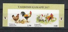 China Horoskop Tajikistan  MNH** 2017 Mi.753-754 ZdB Year of Rooster Cock imp.