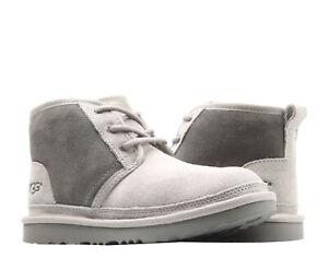 UGG Australia Neumel II Charcoal Grey Kids Chukka Boots 1017320K-CHRC