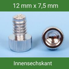 Zierstopfen/Zierschrauben Hex 10 Pcs. Chrome For Alloy Wheels 12 - 7,5