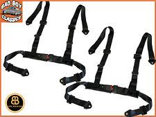 Noir 4 Point VOITURE RACING Seat Belt Harnais de sécurité Conception Universelle x2