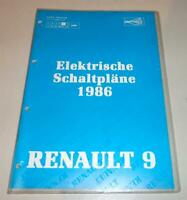 Workshop Manual Wiring Diagram Renault 9 R9 Stand 5/1986