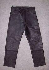 PANTALON 5 poches en CUIR épais UPLINE, motard, biker, Taille 38 --- (PCH_028)