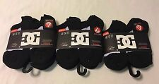 DC Shoes Boys Ankle Sock No Size 6-8 Shoes 10.5-4 3 No Show Packs/18 Pairs Black