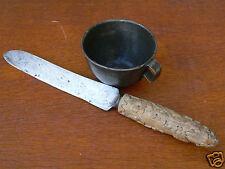 lot objet WW1 poilu couteau quart matriculé travail tranchée/trench art/briquet