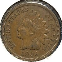 1909 1C Indian Cent (60402)