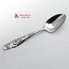 Shiebler Flora Geranium Sterling Silver Teaspoon 1890