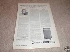 Harman Kardon Citation X Speaker Ad from 1960,Article