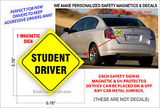 STUDENT DRIVER SAFETY Magnetic Sign NEW Heavy Duty Magnetic On & Off with Ease