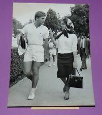 RARE PHOTO PRESSE TENNIS 1959 J-N GRINDA CROIX CATELAN RCF AVEC S CASABLANCAS