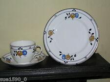 Stunning 1930's Hancock's China 'MADRID' Cup Saucer Plate (Trio) - Art Deco