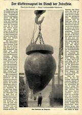 Hans Dominik Der Elektromagnet im Dienst der Industrie Kran Text-& Bildd.v.1909