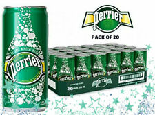 20 PERRIER SPARKLING NATURAL MINERAL WATER IN SLIM CAN 8.45oz