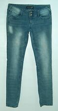 Three Button Waist LOW SKINNY Faded Spots PARIS BLUES Super Stretchy Jeans! 7