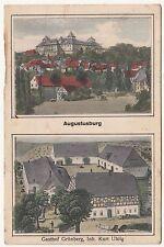 Kolorierte Ak Augustusbug Gasthof Grünberg um 1910 ! (A1542