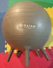 2 Gaiam Kids Stay-N-Play Children's Balance Balls Green and Grey