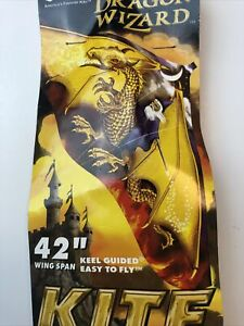 """2001 GAYLA Dragon Wizard #110 Keel Guided Kite 42"""" Wing Span New Old Stock"""