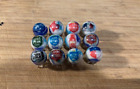 """Lonestar BEER 5/8"""" GLASS MARBLES COLLECTION with stands"""