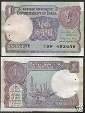 ★  1 Rupee ~ Pratap Kishan Kaul 'Plain' Inset ~ 1984 ~ UNC ~ A46 ★  bb85